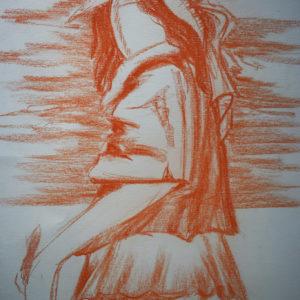 L'artista | Sanguigna su cartoncino 50 x 70