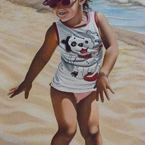 Bambina | Olio su tela 40 x 60