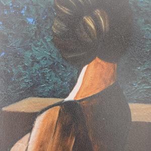 Donna di spalle | Olio su tela 30 x50