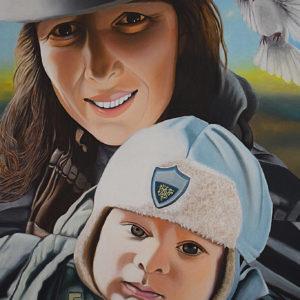Maternità | Olio su tela 40 x 60