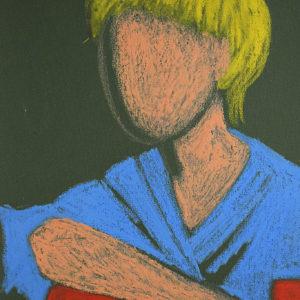 Figura | Pastelli su cartoncino 30 x 50