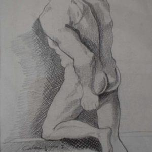 Figura uomo | Matite su cartoncino 17 x 33