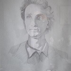 Autoritratto | Matite su cartoncino cm. 48,5 x 68,5