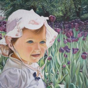 Bambina | Olio su tela 40 x 40